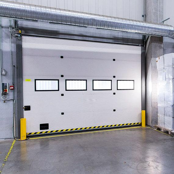 Portes sectionnelles industrielles epinal vente pose de - Porte de garage sectionnelle industrielle ...